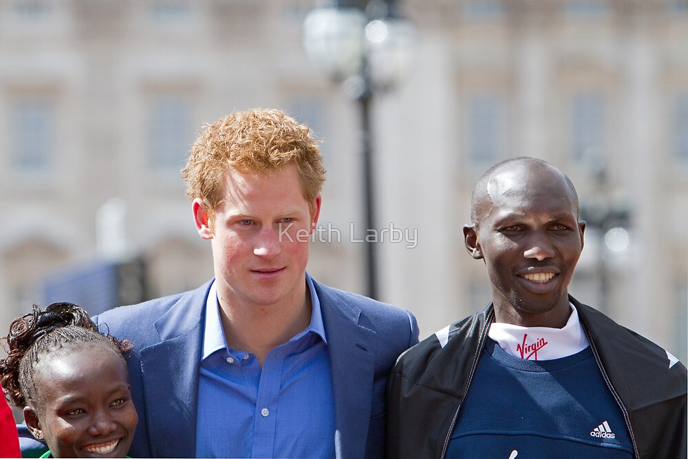 A close up of the london Marathon Winners by Keith Larby