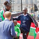 London Marathon Winners with Prince Harry by Keith Larby
