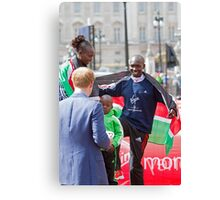 London Marathon Winners with Prince Harry Canvas Print
