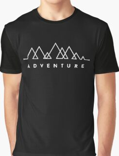 Minimalist: Adventure (White on Black) Graphic T-Shirt