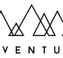 Minimalist: Adventure (Black on white) Sticker