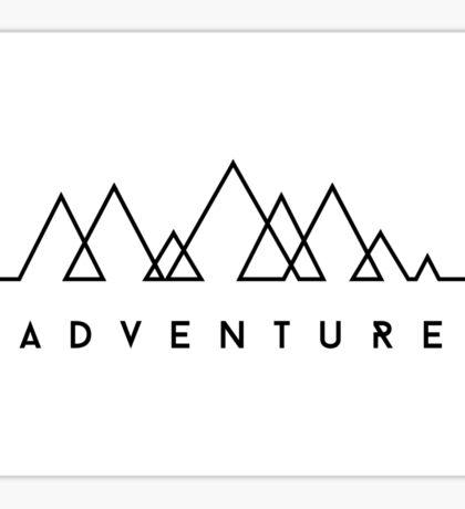 Minimalist: Adventure (Black on white) Sticker