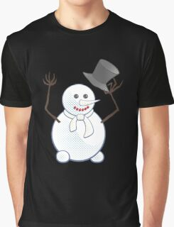 Snowman; New Year; Christmas Graphic T-Shirt