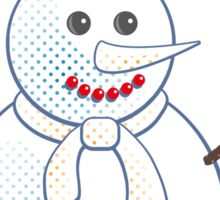 Snowman; New Year; Christmas Sticker