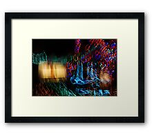 Abstract Christmas Lights - Color Twists and Swirls  Framed Print