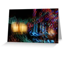 Abstract Christmas Lights - Color Twists and Swirls  Greeting Card