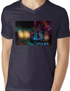 Abstract Christmas Lights - Color Twists and Swirls  Mens V-Neck T-Shirt
