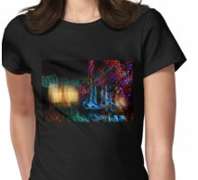 Abstract Christmas Lights - Color Twists and Swirls  Womens Fitted T-Shirt
