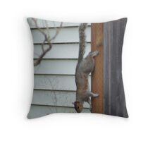 Fence Climber Throw Pillow
