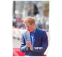 Prince Harry clapping Poster