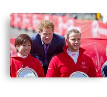 Marcel Hug with Wakako Tsuchida & Prince Harry Canvas Print