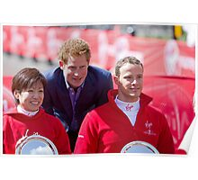 Marcel Hug with Wakako Tsuchida & Prince Harry Poster