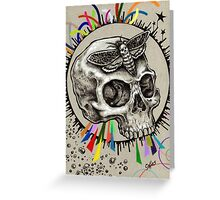 Skull and Hawkmoth Greeting Card