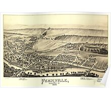 Panoramic Maps Peckville Lackawanna County Pa 1892 Poster