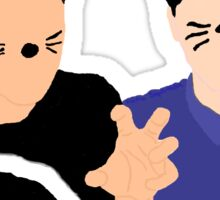 Dan and Phil cartoon style Sticker