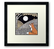 Full Moon Fox Framed Print