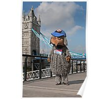 Mark Millrine dressed as a womble at Tower Bridge Poster