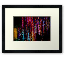 Colorful Christmas Streaks - Abstract Christmas Lights Series Framed Print