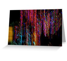 Colorful Christmas Streaks - Abstract Christmas Lights Series Greeting Card