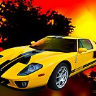 Yellow Ford GT by michaelasamples