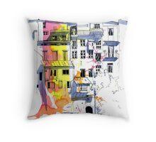 Maisons Suspendu, Pont-en-Royans, France Throw Pillow