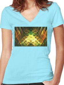 Crystalline Forest Women's Fitted V-Neck T-Shirt