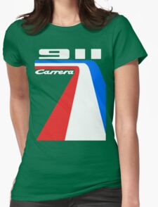racing stripes Womens Fitted T-Shirt