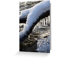 Cool Icicles Reflecting in the Waves  Greeting Card