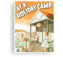 AT A HOLIDAY CAMP (vintage illustration) Canvas Print
