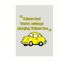 Yellow Car Art Print