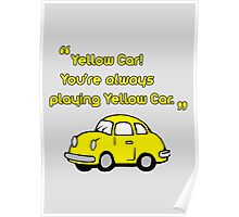Yellow Car Poster