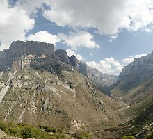 View of Vikos Canyon by Nikolas Mavrikakis
