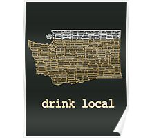 Drink Local - Washington Beer Shirt Poster