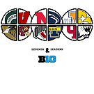 Big Ten Legend and Leaders -- Ohio State, Nebraska, Penn State, Michigan, Michigan State, Illinois, Indiana, Iowa, Minnesota, Northwestern, Purdue and Wisconsin by PlusSports