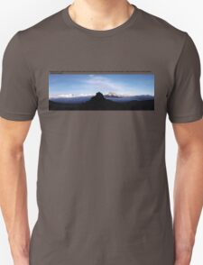 Mawenzi Summit on Mount Kilimanjaro. Earthporn. With a Monty Python quote. Unisex T-Shirt