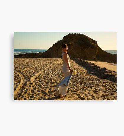 Beach bride Canvas Print
