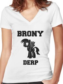 BRONY Derpy Hooves Women's Fitted V-Neck T-Shirt