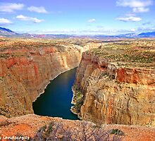 Bighorn canyon on two borders by Erika Price