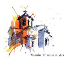 Monastere St-Antoine-Le-Grand, France by scatterlings
