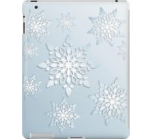Snowflakes; New Year; Christmas; winter. iPad Case/Skin