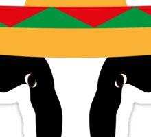Cow Wearing a Sombrero Sticker
