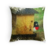 Not from around here Throw Pillow