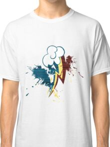 Rainbow Dash Cutie Mark Grain&Splatter Classic T-Shirt
