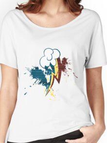 Rainbow Dash Cutie Mark Grain&Splatter Women's Relaxed Fit T-Shirt