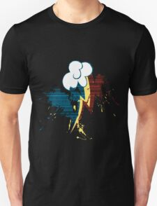 Rainbow Dash Cutie Mark Grain&Splatter Unisex T-Shirt