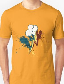 Rainbow Dash Cutie Mark Grain&Splatter Unisex T-Shirt