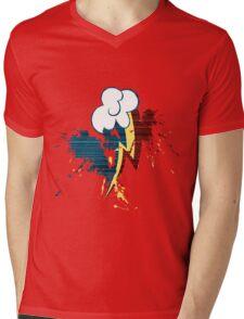 Rainbow Dash Cutie Mark Grain&Splatter Mens V-Neck T-Shirt