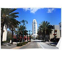 Downtown Orlando, Florida - Watercolor Poster