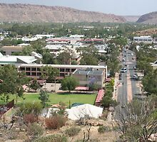 Main Street in Alice Springs, Australia by Laurel Talabere