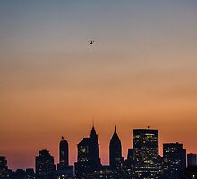 lonesome heli over downtown manhatten by zeitmaschine